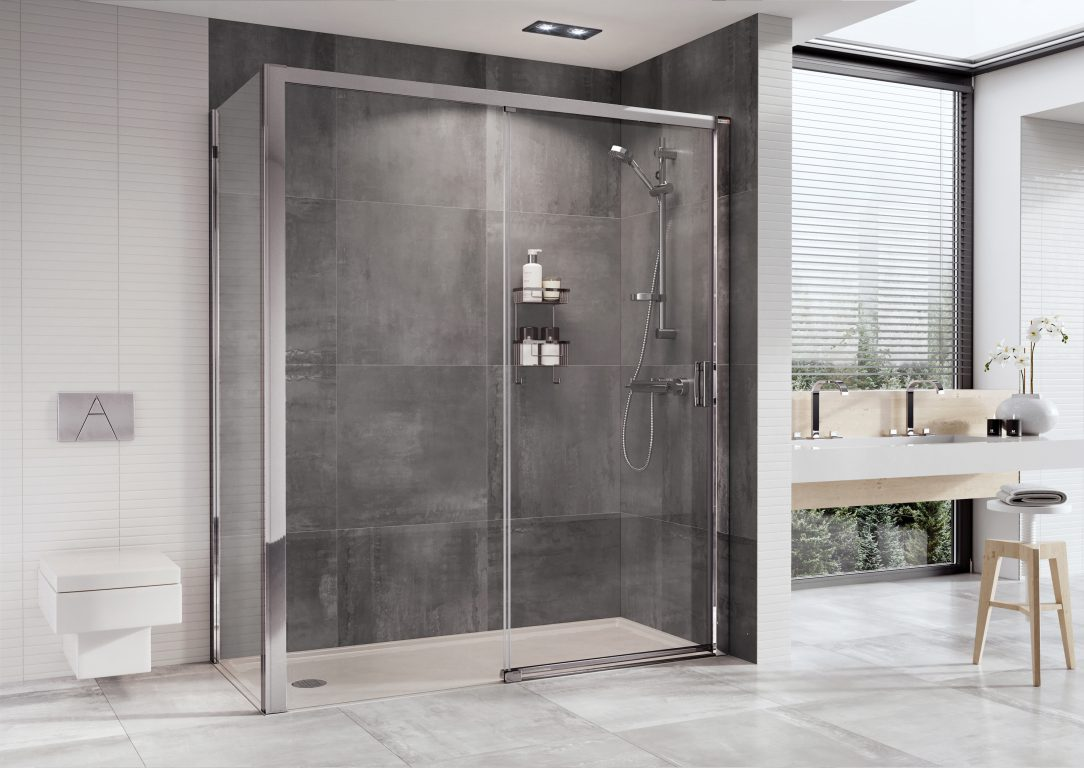 Roman Launch Level Access Sliding Door Roman Showers