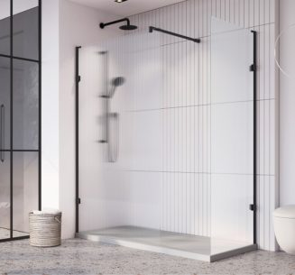 Liberty Wetroom Panels with Fluted Glass